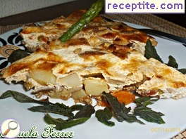 Moussaka with mushrooms and vegetables
