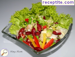 Salad with tuna and red beans