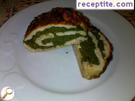 Fitness chicken-spinach roll