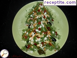 Salad Christmas tree