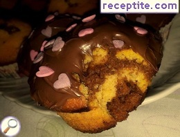 Colorful muffins with pumpkin