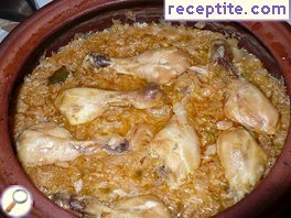 Sauerkraut with chicken