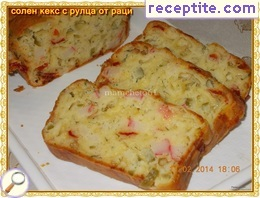 Savory sponge cake with crab rolls