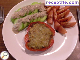 Stuffed peppers with mushrooms and buckwheat