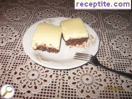 Cake with milk cream