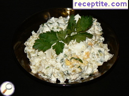 Potato Salad with Ramsons cream cheese
