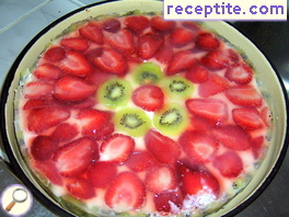 Cheesecake with fruit Theodora