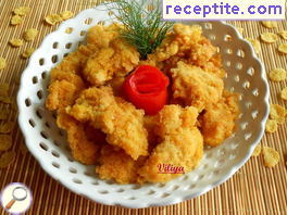 Crispy fillets with cornflakes