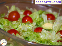 Iceberg salad with avocado and cherry tomatoes