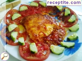 Summer baked with peppers, tomatoes and cheese
