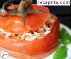 Stuffed tomatoes with minced meat and rice - II type