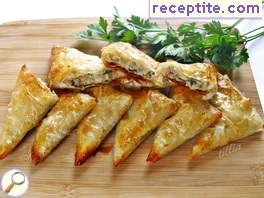 Banitsi (pretzels) with minced meat and eggplant