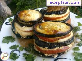 Eggplant with Mozzarella and tomatoes