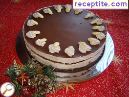 Festive chocolate layered cake