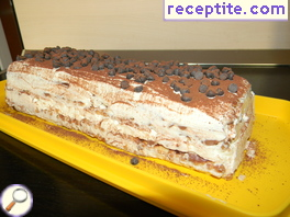 Layered cake dessert Snow