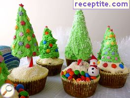 Muffins Christmas fir trees * *