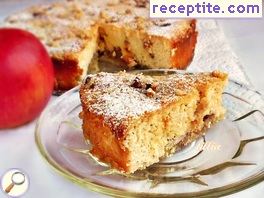 Apple pudding with cottage cheese