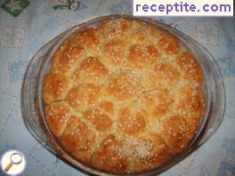 Bread of balls with onion and garlic