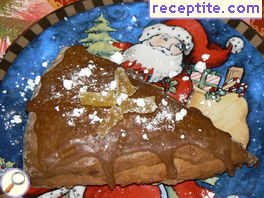 Christmas skouns with apple and candied ginger