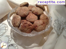 Cookies with coconut flakes and oatmeal