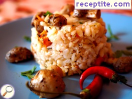 Rice with vegetables in the oven