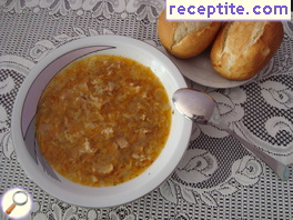 Cabbage soup with pork