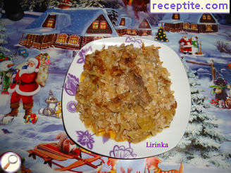 Sauerkraut with rice and pork