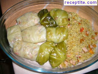 Dolmas with bulgur and sauerkraut - Galoushko