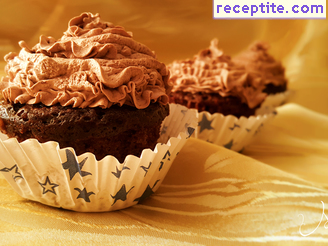 Muffins with chocolate spread