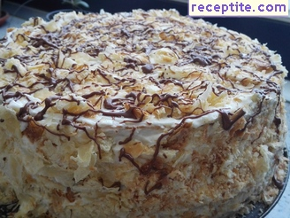 Layered cake with Napoleon ready puff pastry - II type
