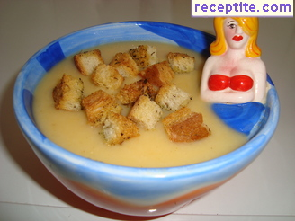 Potato soup grandfather with semolina