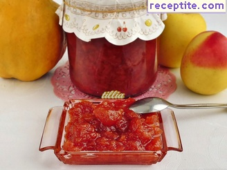 Jam quince and apples