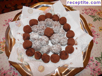 Chocolate truffles with rum Valentine