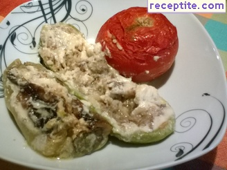 Stuffed zucchini and peppers