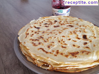 Pancakes with yoghurt without eggs