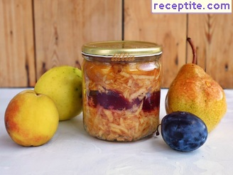 Jam grated fruit