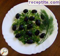 Salad onions and olives