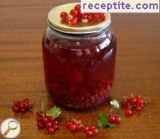 Compote of red currants (cassis)