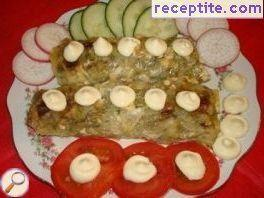 Dolmas with mushrooms and cheese