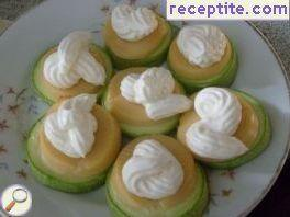 Zucchini with feta cheese and smoked mayonnaise