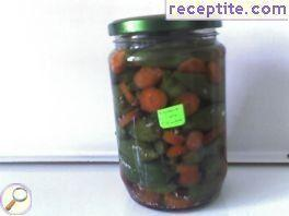 Pickle with chilies
