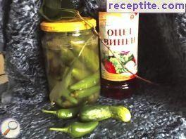 Hot peppers cucumber