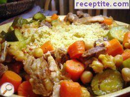 Couscous with chicken and lamb