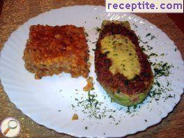 Zucchini with rice and minced meat Neapolitana