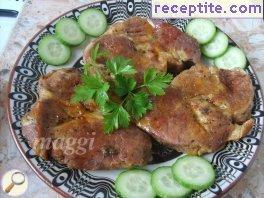 Pork chops with beer