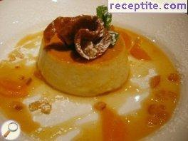 Pumpkin custard with caramelized nuts pumpkin seed