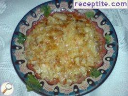 Tripe, baked with cheese
