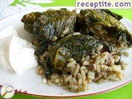Spring dolmas with liver