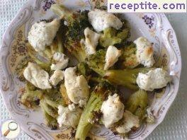 Broccoli with melted cheese