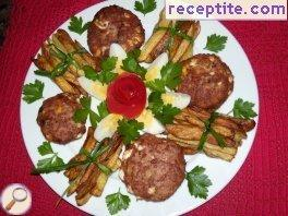 Cutlets with a garnish